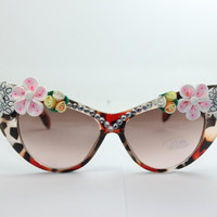 Women's Cute Lovely Summer Style Hot Fashion Fimo Flower Sunglasses = 4672226436