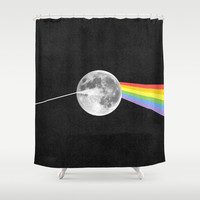 Dark Side of the Moon. Shower Curtain by Nick Nelson   Society6