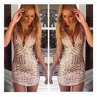 Bodycon  Sequins Party Dress