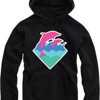 Free shipping fashion hip hop hoodies new arrival dolphin printed pullover for spring/autumn Pink Dolphin Hoodies 8 colors