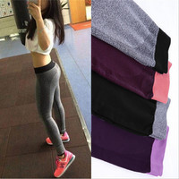 S-XL 4 Colors  Women's Sport Leggings For Yuga Running Training Bodybuilding Fitness Clothing Gym Clothes Elastic Legging 5A