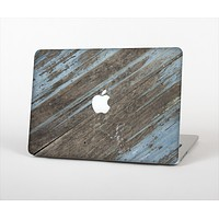 The Faded Blue Paint on Wood Skin Set for the Apple MacBook Air 13""