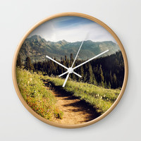 find joy in the journey Wall Clock by sylviacookphotography