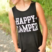 HAPPY CAMPER TANK - BLACK