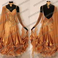 BALLROOM COMPETITION DRESS CUSTOM MADE ON YOUR MEASUREMENTS  WB1375
