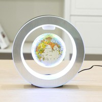 Levitation Floating Globe Rotating Magnetic Mysteriously Suspended In Air World Map Home Decoration