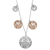 21in Silver and Copper Disc Necklace