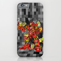 Giant Robot Builder iphone 4 4s, 5 5s 5c, 6, ipod, ipad, pillow case and tshirt iPhone & iPod Case by Three Second