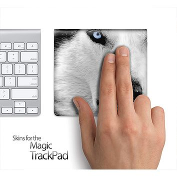 White Wolf Skin for the Apple Magic Trackpad