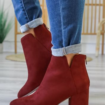 Tia Booties - Rust