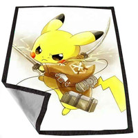 Pikachu Attack On Titan for Kids Blanket, Fleece Blanket Cute and Awesome Blanket for your bedding, Blanket fleece *02*