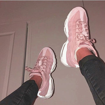 NIKE Air max Women Man sports running shoes sneakers Pink H-CSXY