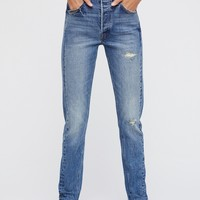 Free People Levi's 501 Skinny Altered Jeans