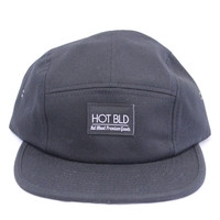 Hot Blood 5 Panel Hat Black