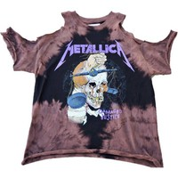 "Open Shoulder Metallica ""Damaged Justice"" Band tee"