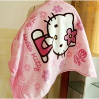 The Pink Hello Kitty Children Thick Blanket.