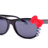 Hot!!Brand Hello Kitty Kawaii Anti UV Sun Glasses Sunglasses-black