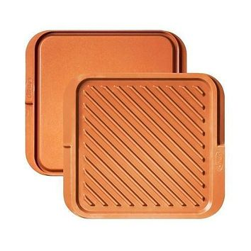 Gotham Steel Double Sided Griddle and Grill Pan