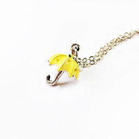 Yellow Umbrella Necklace Inspired by How I Met Your Mother: The Mother
