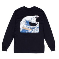 The Great Wave Of Nerm L/S Tee (Black) | RIPNDIP