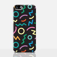 90's Squiggle iPhone Case