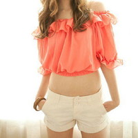 Chiffon Blouse - Peach by Btips and Co