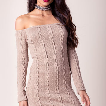 Gina Cable Knit Sweater Dress
