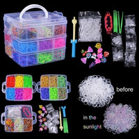 4800 X Rainbow Colourful Rubber Loom Bands For Children Kids Bracelet DIY Making Kit Set Hook Fashion (Size: 1, Color: Multicolor) = 1945901636