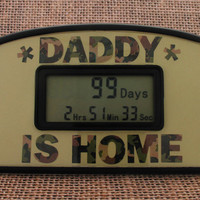 Daddy Is Home Military Countdown Clock by TimelyGifts on Etsy