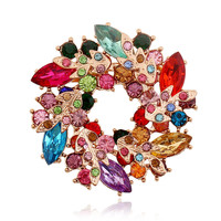 Crystal Rhinestone brooches Christmas crystal Brooch Pin 2015 New  Brooch Pin Jewelry Women  Accessories