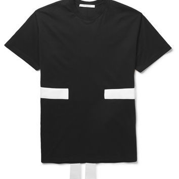 Givenchy - Band-Trimmed Cotton-Jersey T-Shirt   MR PORTER