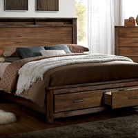 Widel Transitional Cal-King Platform Bed in Oak