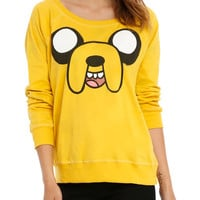 Adventure Time Jake Face Girls Reversible Pullover Top