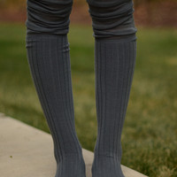 Over the Knee Socks - Grey