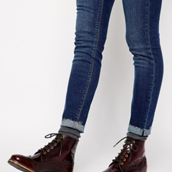 ASOS ACTING UP Leather Ankle Boots