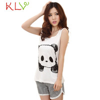 Fabulous 2016 new Fashion pijama Cute Vest Summer Pajamas feminino Lady Casual Sleeveless Female Leisure Wear Suits
