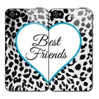 $ 5.00 $$ Off Until The End of The Year Best Friend Set Black & White Cheetah Print Iphone 4 4s Case Hard Back Case Cover