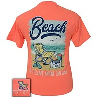 Girlie Girl Originals Preppy Best Escape Beach T-Shirt