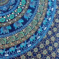 QUEEN cotton tapestry Hippie Wall Hanging Elephant Mandala Bedspread bed cover Indian Bohemian Boho Ethnic Home Decorative Art