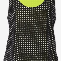 A.L.C. Black Exclusive Holmes Double Layer Silk Tank