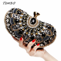 New fashion Luxury diamond  crystal beading women evening bag cluth bag messenger bag with clains bag for party for wedding