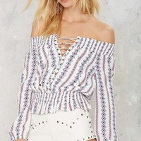 Young Hearts Off-the-Shoulder Top