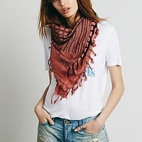 Free People Womens Lost Canyon Fringe Scarf