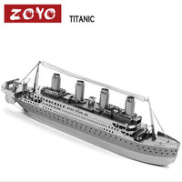 ZOYO 3D Two Pieces Metal Nano Puzzle Model Building Kits Toy