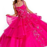 Pageant Dress for Girls Little Beauty and Glitz - Raspberry, size 6