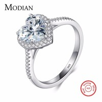 Heart shape 925 Sterling Silver jewelry Ring AAAAA Level CZ wedding band Engagement Rings for women girls bijoux With Gift Box-in Rings from Jewelry & Accessories on Aliexpress.com | Alibaba Group