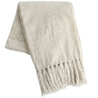 Ivory Chenille Throw
