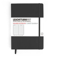 LEUCHTTURM1917 BLACK LARGE HARD COVER NOTEBOOK SQUARED