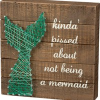 Not A Mermaid String Art Wooden Box Art Sign