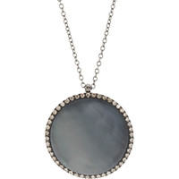 Marroni Black Mother of Pearl Surround Pendant Necklace | Barneys New York
